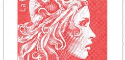 Marianne l'engagée, Yzeult Digan, dessinateur Elsa Catelin, graveur, timbre poste émis le 23 Juillet 2018, imprimé en taille douce, inv 2018.95.11