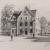 Détail - Jules Piel - Bureaux de poste de Peyrieu (Ain) et de Saulieu - Gravure sur papier extraite de l'ouvrage La Poste en France au milieu du 20e siècle, 1950